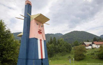 特朗普巨型木像驚現斯洛文尼亞 引起當地爭議